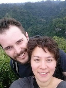 Melissa and Geoff on Cat Ba Island in Vietnam