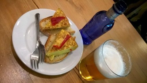 €3.20 drink and tortilla in Leon, Spain