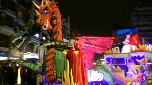 Carnival Float in Leon, Spain