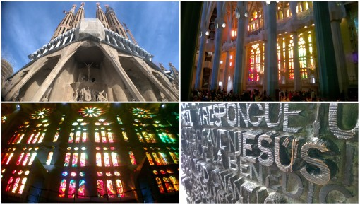 The beautiful Sacred Family Church, Barcelona