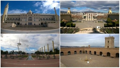 Olympic Park, Placa D'Espanya and Montjuic Castle