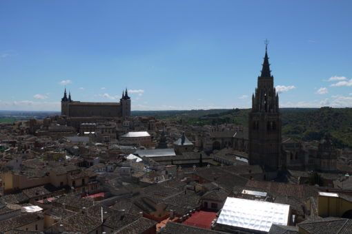 View from the top of The Church of Los Jesuitas in Toledo