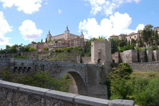 Toledo city walls and bridge, Spain