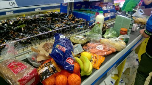 Weekly shop from Lidl in Toledo, Spain