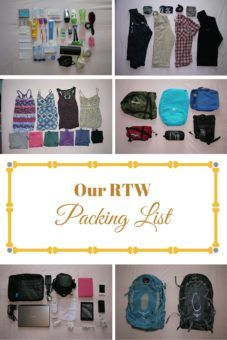 Our RTW Packing List