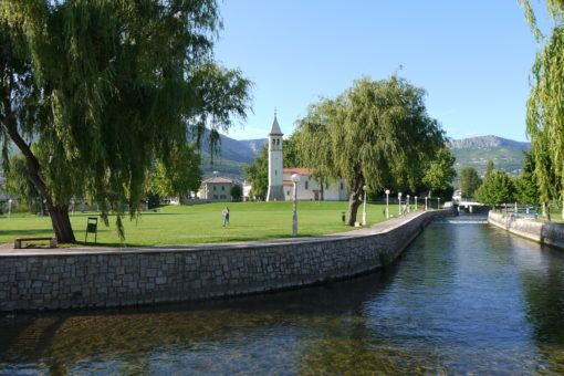 Picturesque Solin, near Split, Croatia