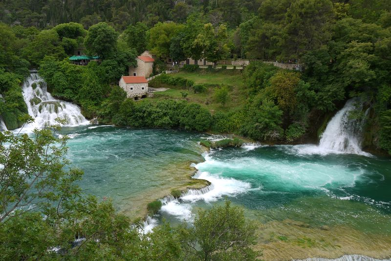 Skradinski Buk Waterfall in Krka National Park, Croatia