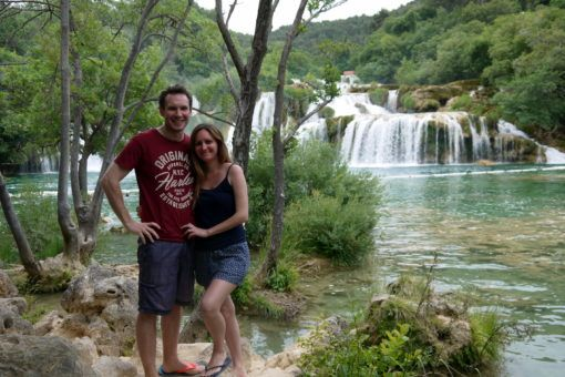 Andrew and I in Krka National Park, Croatia