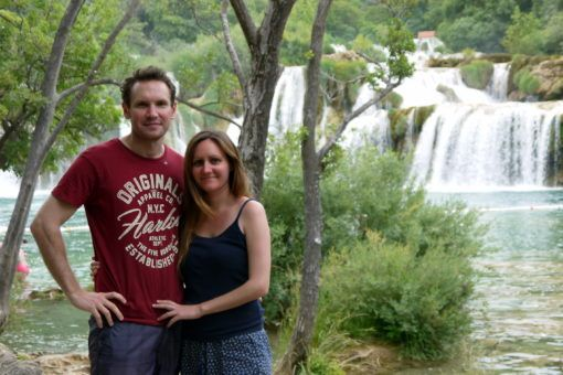 Us at Krka National Park in Croatia