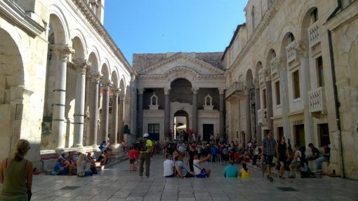 The Main Square of Diocletian's Palace, Split Old Town, Croatia