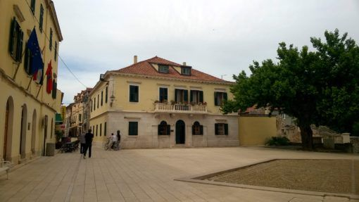 Skradin town square in Croatia