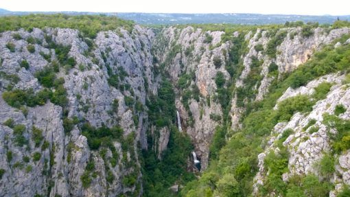 The Waterfall of Cetina Gorge, Croatia