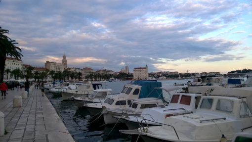 Boats in Split Harbour, Croatia