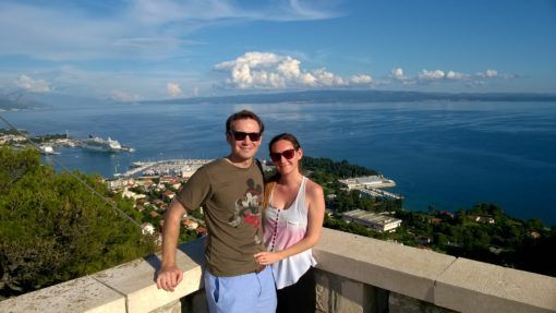 Us at the top of Marjan Park in Split, Croatia