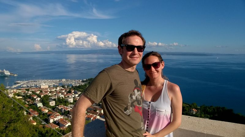 Andrew and I in Split, Croatia