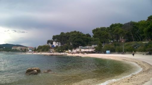 Bacvice Beach in Split, Croatia