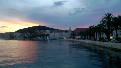 The Riva, Split, Croatia at night