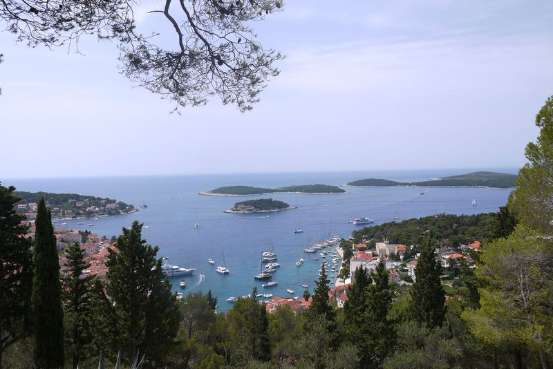 Aerial view of Hvar City, Croatia