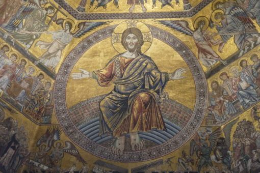 Mosaics in the Babtistry in Florence, Italy