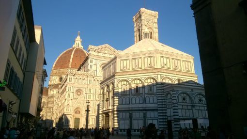 Santa Del Fiore Cathedral, the Bell Tower and the Duomo in Florence