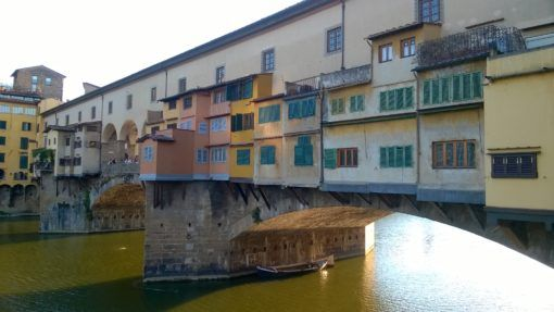 The Ponta Veccio Bridge in Florence, Italy