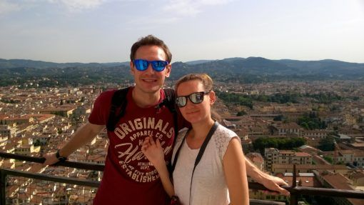 Andrew and I at the top of the Duomo in Florence, Italy
