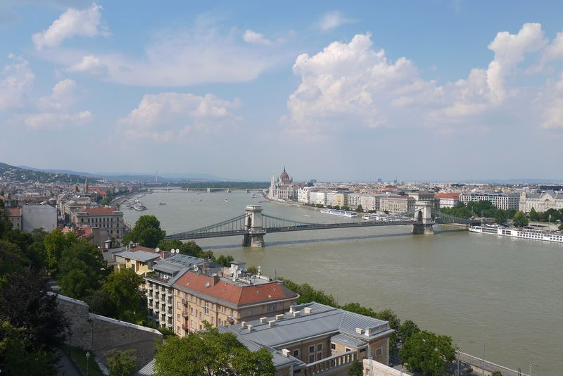 Looking down over Budapest from Fisherman's Bastion