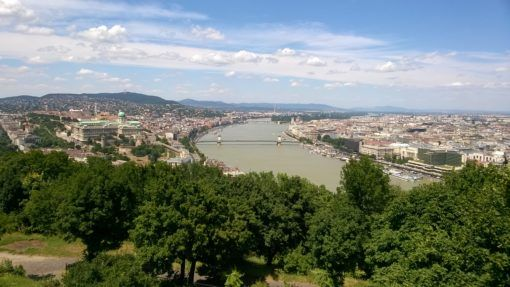 Panoramic View from the Top of Gellert Hill in Budapest