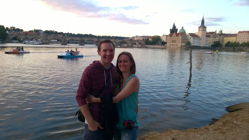 Us by the River in Prague