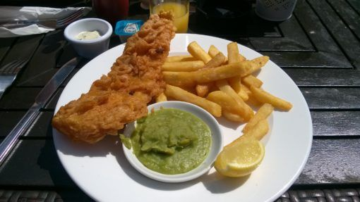 Fish and Chips at an English Pub