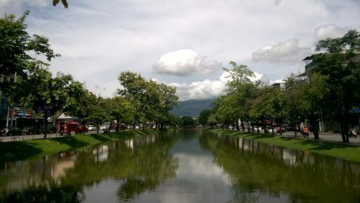 The moat in Chiang Mai