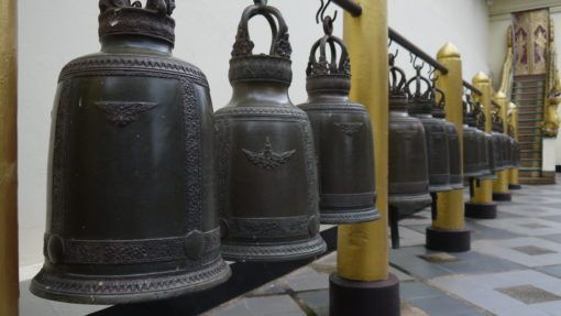 Prayer bells at Wat Phra That Doi Suthep temple in Chiang Mai