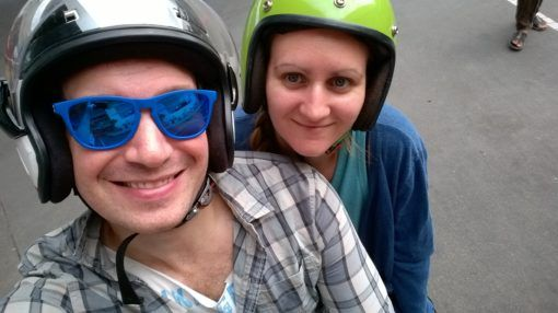 Life in Chiang Mai: Andrew and I on a motorbike