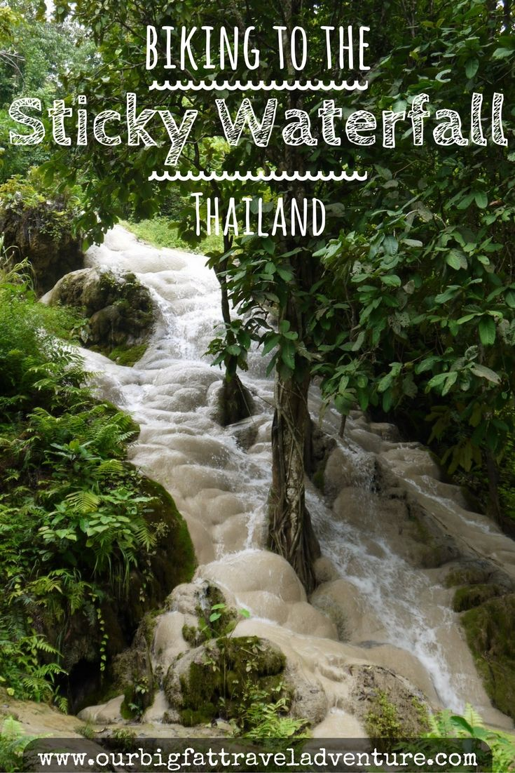 biking to the sticky waterfall pinterest pin