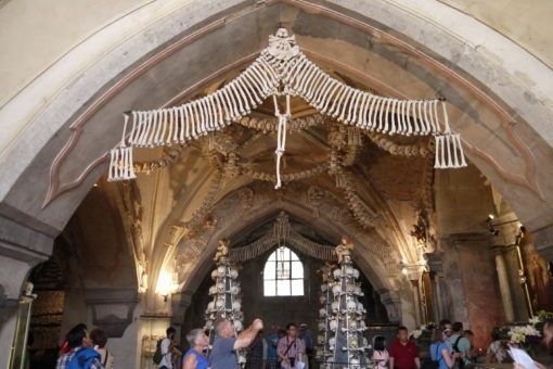 The inside of the Kutna Hora Bone Church