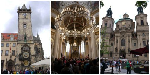 Collage of St Nicholas Church in Prague