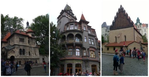 Buildings in the Jewish Quarter of Prague
