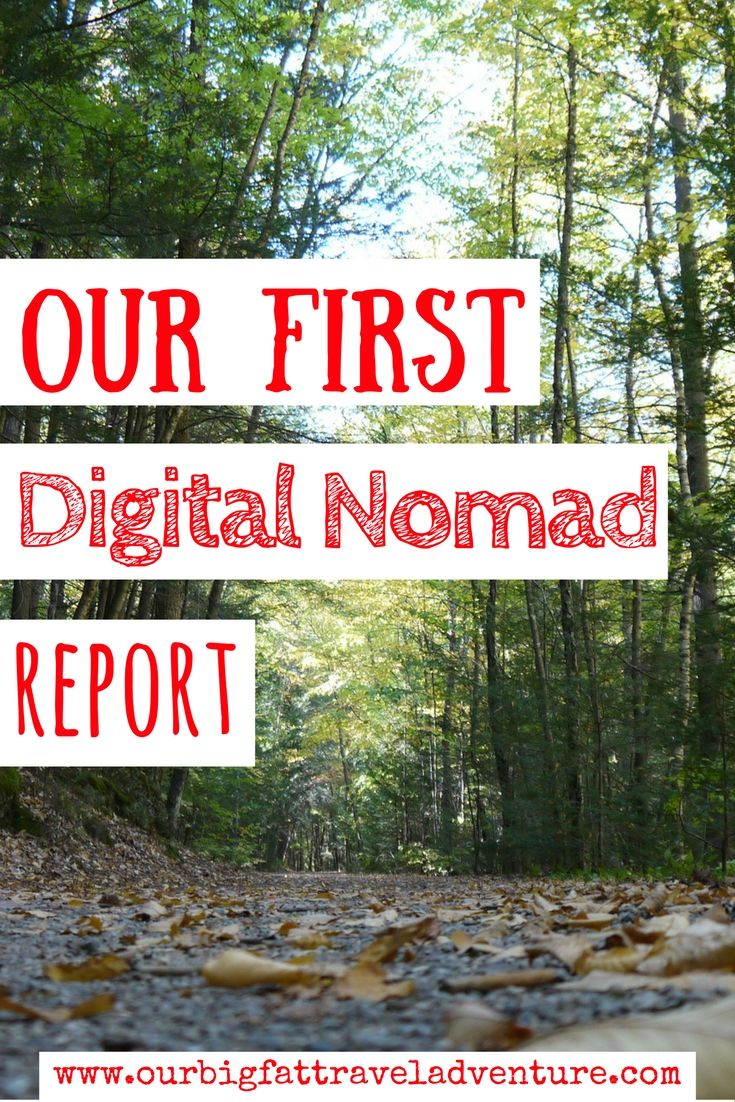 our first digital nomad report Pinterest Poster