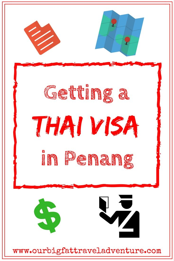 Getting a Thai Visa in Penang, Pinterest Poster