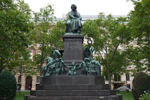 Ludwig Van Beethoven Statue in Vienna, Austria
