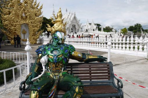 Fly statue at the White Temple in Thailand
