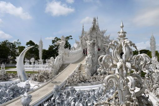The cycle of rebirth bridge at the White Temple in Chiang Rai