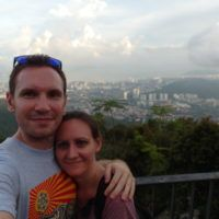 Us on Penang Hill in Malaysia
