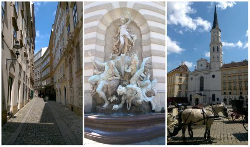 Collage of Statues in Vienna, Austria - our Viennese Whirl