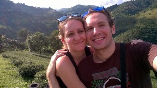 Us at a tea plantation in Mae Salong, Thailand