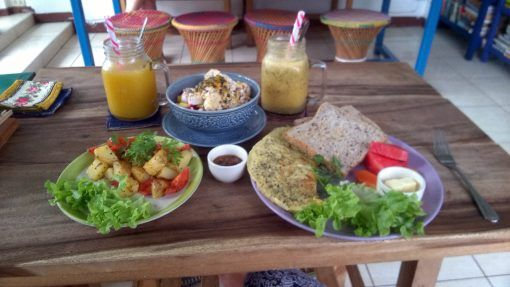 Brunch at Free Bird Cafe in Chiang Mai, Thailand