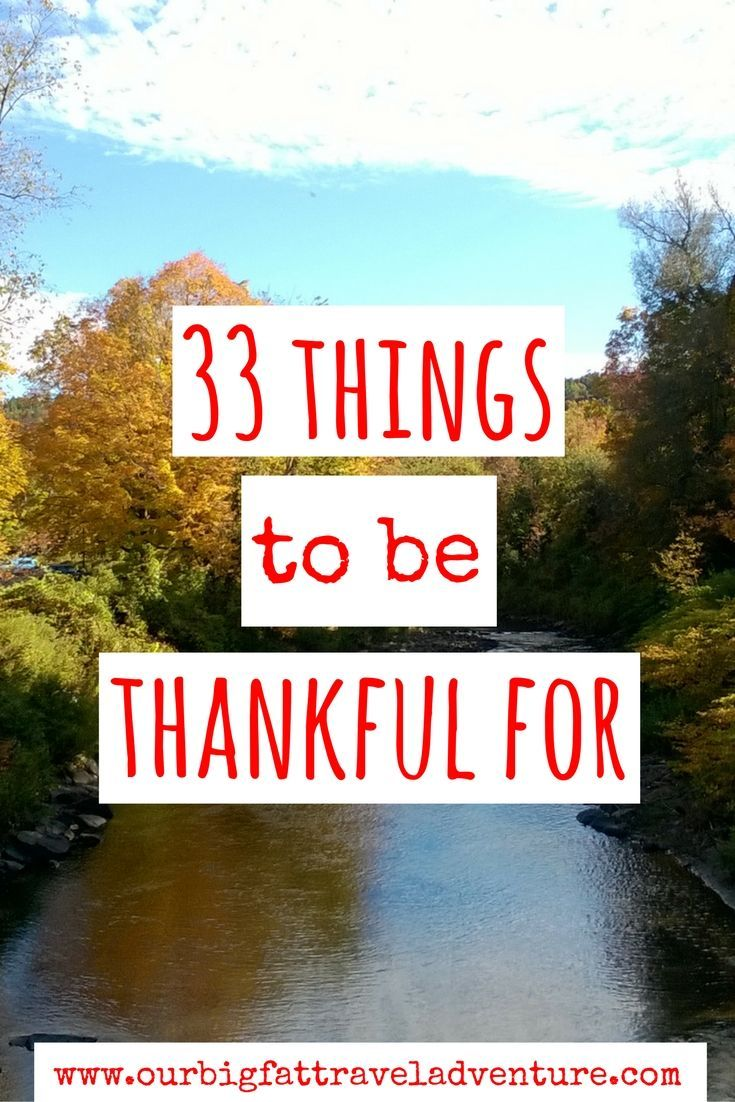 33 things to be thankful for, Pinterest Poster