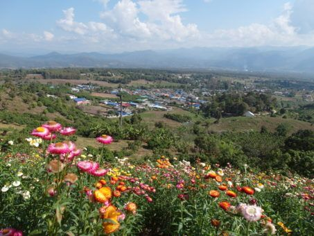 Yun Lai viewpoint in Pai, Thailand