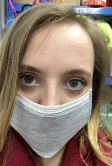 Hattie well-protected from the pollution in China
