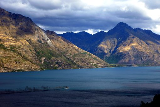 View of Lake Wakatipu, Queenstown, New Zealand